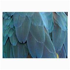 Feather Plumage Blue Parrot Large Glasses Cloth