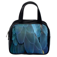 Feather Plumage Blue Parrot Classic Handbags (One Side)
