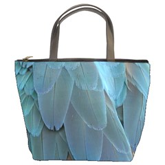 Feather Plumage Blue Parrot Bucket Bags