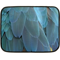 Feather Plumage Blue Parrot Double Sided Fleece Blanket (Mini)