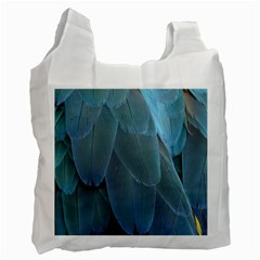 Feather Plumage Blue Parrot Recycle Bag (one Side)