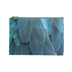 Feather Plumage Blue Parrot Cosmetic Bag (large)