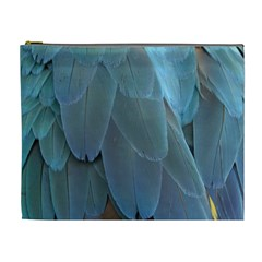 Feather Plumage Blue Parrot Cosmetic Bag (xl)