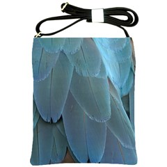 Feather Plumage Blue Parrot Shoulder Sling Bags
