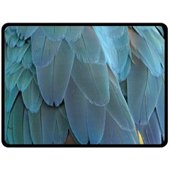 Feather Plumage Blue Parrot Fleece Blanket (large)