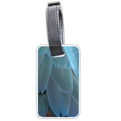 Feather Plumage Blue Parrot Luggage Tags (one Side)