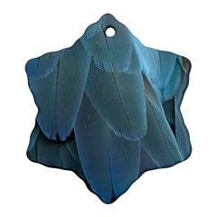 Feather Plumage Blue Parrot Snowflake Ornament (Two Sides)