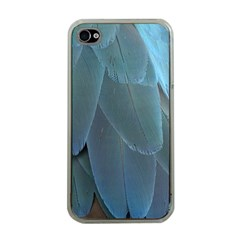 Feather Plumage Blue Parrot Apple iPhone 4 Case (Clear)