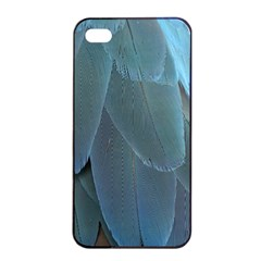 Feather Plumage Blue Parrot Apple iPhone 4/4s Seamless Case (Black)