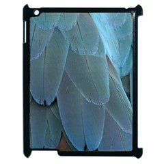 Feather Plumage Blue Parrot Apple iPad 2 Case (Black)