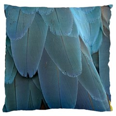 Feather Plumage Blue Parrot Large Cushion Case (two Sides)