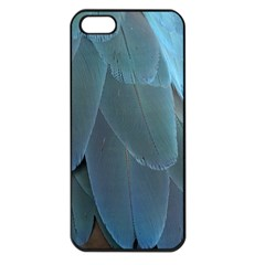 Feather Plumage Blue Parrot Apple Iphone 5 Seamless Case (black)