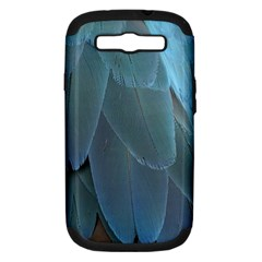 Feather Plumage Blue Parrot Samsung Galaxy S III Hardshell Case (PC+Silicone)