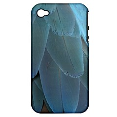 Feather Plumage Blue Parrot Apple Iphone 4/4s Hardshell Case (pc+silicone)