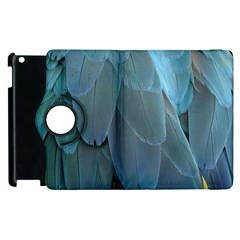 Feather Plumage Blue Parrot Apple Ipad 3/4 Flip 360 Case