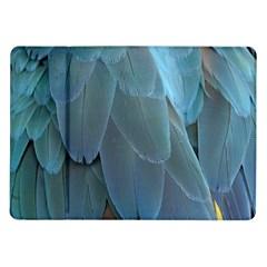 Feather Plumage Blue Parrot Samsung Galaxy Tab 10 1  P7500 Flip Case