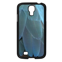 Feather Plumage Blue Parrot Samsung Galaxy S4 I9500/ I9505 Case (black)