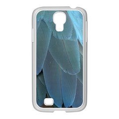 Feather Plumage Blue Parrot Samsung Galaxy S4 I9500/ I9505 Case (white)