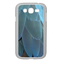 Feather Plumage Blue Parrot Samsung Galaxy Grand DUOS I9082 Case (White)