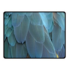 Feather Plumage Blue Parrot Double Sided Fleece Blanket (Small)