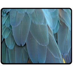 Feather Plumage Blue Parrot Double Sided Fleece Blanket (Medium)