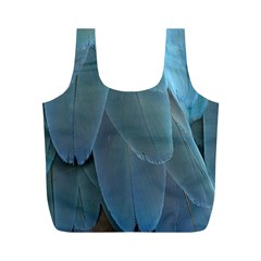 Feather Plumage Blue Parrot Full Print Recycle Bags (M)