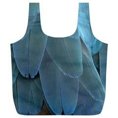 Feather Plumage Blue Parrot Full Print Recycle Bags (l)