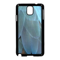 Feather Plumage Blue Parrot Samsung Galaxy Note 3 Neo Hardshell Case (black)