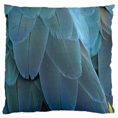 Feather Plumage Blue Parrot Large Flano Cushion Case (two Sides)