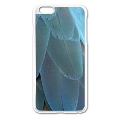 Feather Plumage Blue Parrot Apple iPhone 6 Plus/6S Plus Enamel White Case