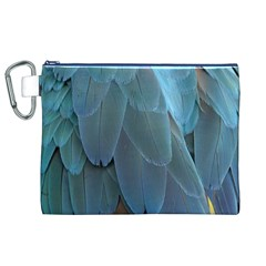 Feather Plumage Blue Parrot Canvas Cosmetic Bag (XL)