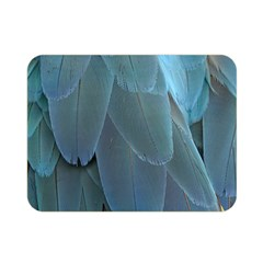 Feather Plumage Blue Parrot Double Sided Flano Blanket (mini)