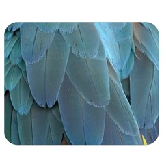 Feather Plumage Blue Parrot Double Sided Flano Blanket (Medium)