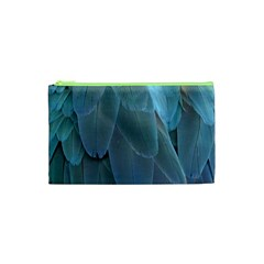 Feather Plumage Blue Parrot Cosmetic Bag (XS)