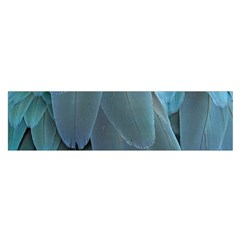Feather Plumage Blue Parrot Satin Scarf (Oblong)