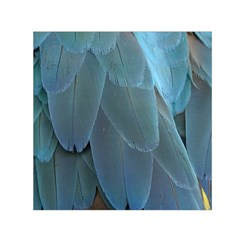 Feather Plumage Blue Parrot Small Satin Scarf (square)