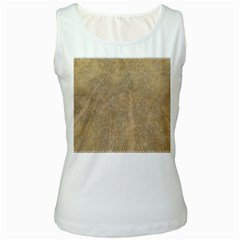 Abstract Forest Trees Age Aging Women s White Tank Top