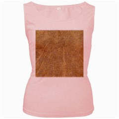 Abstract Forest Trees Age Aging Women s Pink Tank Top