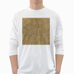 Abstract Forest Trees Age Aging White Long Sleeve T-Shirts