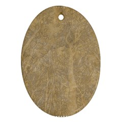 Abstract Forest Trees Age Aging Oval Ornament (Two Sides)