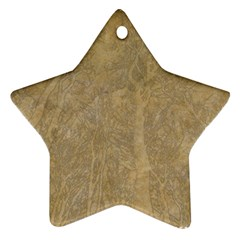 Abstract Forest Trees Age Aging Star Ornament (Two Sides)