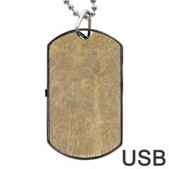 Abstract Forest Trees Age Aging Dog Tag USB Flash (One Side)