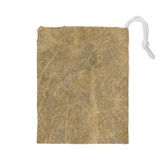 Abstract Forest Trees Age Aging Drawstring Pouches (Large)
