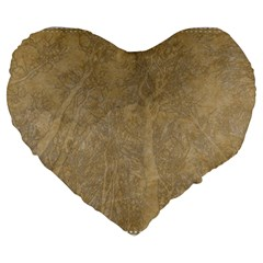 Abstract Forest Trees Age Aging Large 19  Premium Flano Heart Shape Cushions