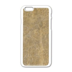 Abstract Forest Trees Age Aging Apple Iphone 6/6s White Enamel Case