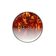 Effect Pattern Brush Red Orange Hat Clip Ball Marker
