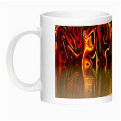 Effect Pattern Brush Red Orange Night Luminous Mugs