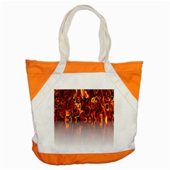 Effect Pattern Brush Red Orange Accent Tote Bag