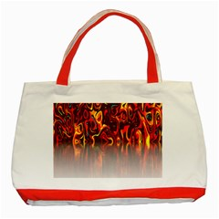 Effect Pattern Brush Red Orange Classic Tote Bag (red)