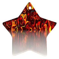 Effect Pattern Brush Red Orange Star Ornament (two Sides)